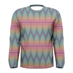 Pattern Background Texture Colorful Men s Long Sleeve Tee