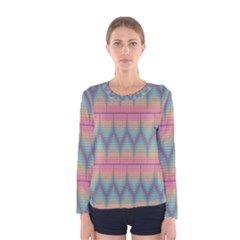 Pattern Background Texture Colorful Women s Long Sleeve Tee