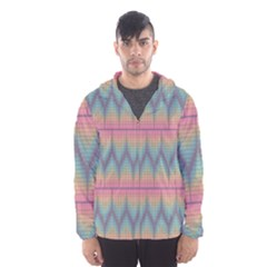 Pattern Background Texture Colorful Hooded Wind Breaker (Men)