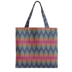 Pattern Background Texture Colorful Zipper Grocery Tote Bag