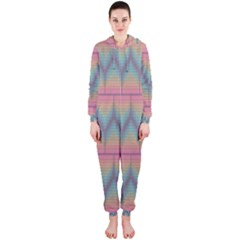 Pattern Background Texture Colorful Hooded Jumpsuit (Ladies)