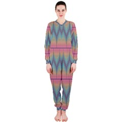 Pattern Background Texture Colorful Onepiece Jumpsuit (ladies)