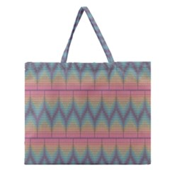 Pattern Background Texture Colorful Zipper Large Tote Bag