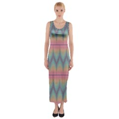 Pattern Background Texture Colorful Fitted Maxi Dress