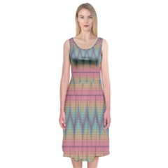 Pattern Background Texture Colorful Midi Sleeveless Dress