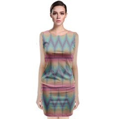 Pattern Background Texture Colorful Classic Sleeveless Midi Dress