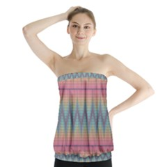 Pattern Background Texture Colorful Strapless Top