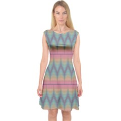Pattern Background Texture Colorful Capsleeve Midi Dress