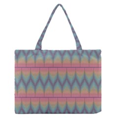 Pattern Background Texture Colorful Medium Zipper Tote Bag