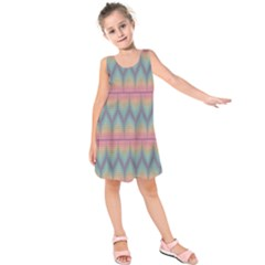 Pattern Background Texture Colorful Kids  Sleeveless Dress