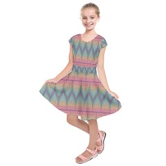 Pattern Background Texture Colorful Kids  Short Sleeve Dress