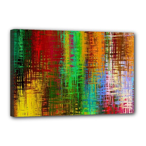 Color Abstract Background Textures Canvas 18  x 12