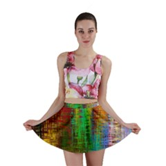 Color Abstract Background Textures Mini Skirt