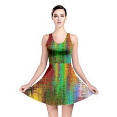 Color Abstract Background Textures Reversible Skater Dress