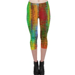 Color Abstract Background Textures Capri Leggings