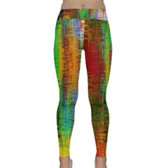 Color Abstract Background Textures Classic Yoga Leggings