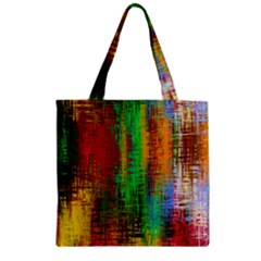 Color Abstract Background Textures Zipper Grocery Tote Bag