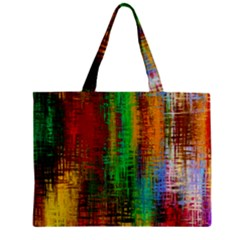 Color Abstract Background Textures Zipper Mini Tote Bag