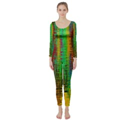 Color Abstract Background Textures Long Sleeve Catsuit