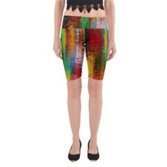 Color Abstract Background Textures Yoga Cropped Leggings