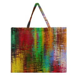 Color Abstract Background Textures Zipper Large Tote Bag