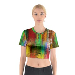 Color Abstract Background Textures Cotton Crop Top