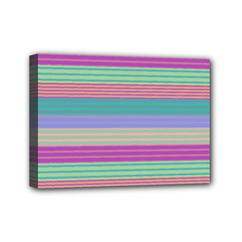 Backgrounds Pattern Lines Wall Mini Canvas 7  x 5