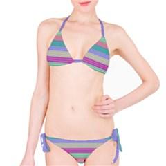 Backgrounds Pattern Lines Wall Bikini Set