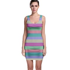 Backgrounds Pattern Lines Wall Sleeveless Bodycon Dress