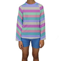 Backgrounds Pattern Lines Wall Kids  Long Sleeve Swimwear