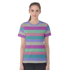 Backgrounds Pattern Lines Wall Women s Cotton Tee