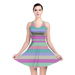 Backgrounds Pattern Lines Wall Reversible Skater Dress