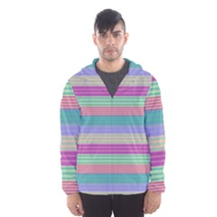 Backgrounds Pattern Lines Wall Hooded Wind Breaker (Men)