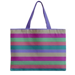 Backgrounds Pattern Lines Wall Zipper Mini Tote Bag