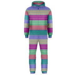 Backgrounds Pattern Lines Wall Hooded Jumpsuit (Men)