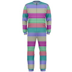 Backgrounds Pattern Lines Wall OnePiece Jumpsuit (Men)
