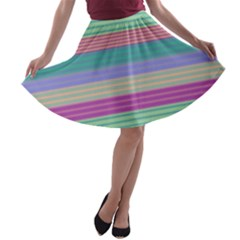 Backgrounds Pattern Lines Wall A-line Skater Skirt