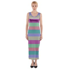 Backgrounds Pattern Lines Wall Fitted Maxi Dress