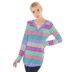 Backgrounds Pattern Lines Wall Women s Tie Up Tee