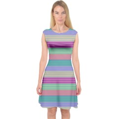 Backgrounds Pattern Lines Wall Capsleeve Midi Dress