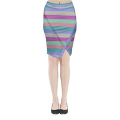 Backgrounds Pattern Lines Wall Midi Wrap Pencil Skirt
