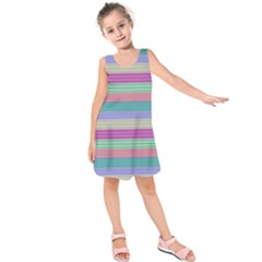 Backgrounds Pattern Lines Wall Kids  Sleeveless Dress