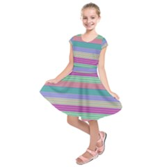 Backgrounds Pattern Lines Wall Kids  Short Sleeve Dress