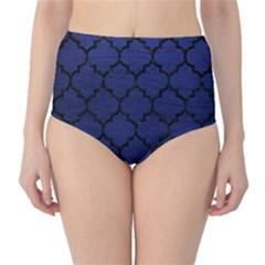 TIL1 BK-MRBL BL-LTHR (R) High-Waist Bikini Bottoms
