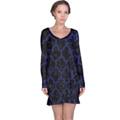 TIL1 BK-MRBL BL-LTHR Long Sleeve Nightdress