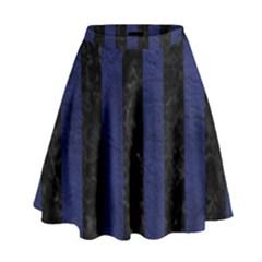 STR1 BK-MRBL BL-LTHR High Waist Skirt