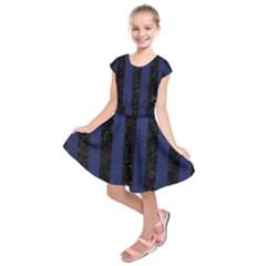 STR1 BK-MRBL BL-LTHR Kids  Short Sleeve Dress