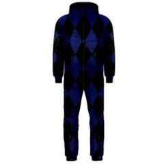 SQR2 BK-MRBL BL-LTHR Hooded Jumpsuit (Men)