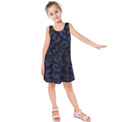 SKN5 BK-MRBL BL-LTHR (R) Kids  Sleeveless Dress