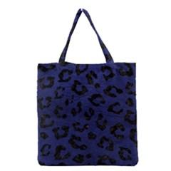 SKN5 BK-MRBL BL-LTHR Grocery Tote Bag